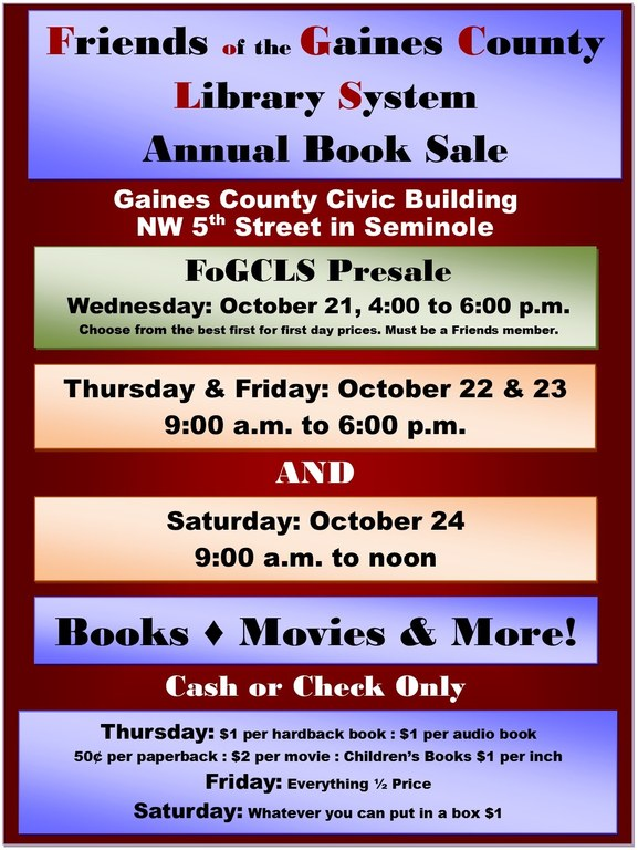 Book Sale 2015
